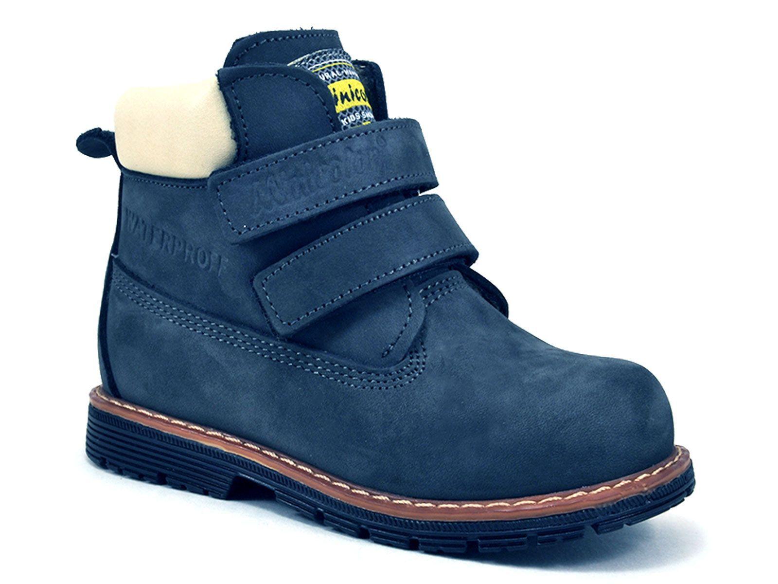 16a25a3c9 750-1 (37-40) Миниколор (Minicolor), ботинки детские ортопедические  профилактические утеплённые, кожа, флис, темно-голубой